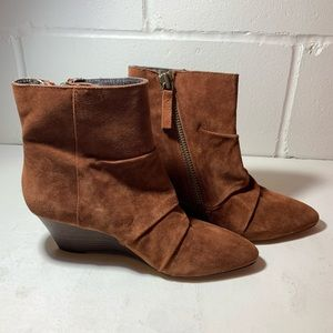 Nine West wedge suede ankle boots.